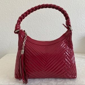 Cole han red quilted Laury hobo bag